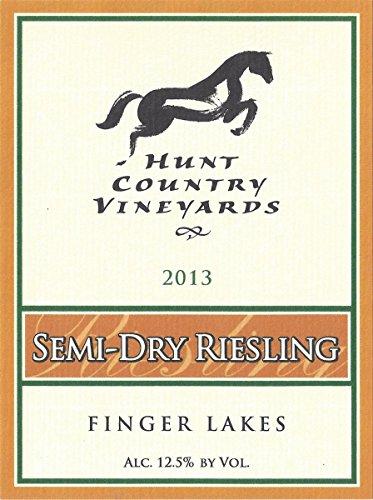 2013 Hunt Country Vineyards Semi-Dry Riesling Finger Lakes Estate Bottled 750Ml
