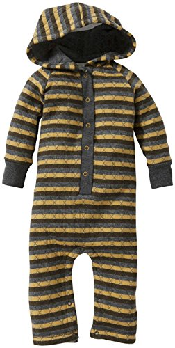 Burt'S Bees Baby-Boys Newborn Quilted Hooded Coverall, Mustard Seed, 6-9 Months front-917654
