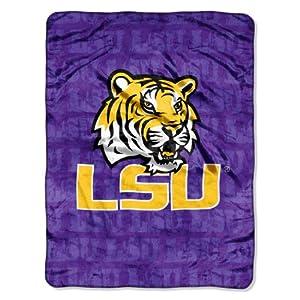 Buy NCAA LSU Tigers 46-Inch-by-60-Inch Micro-Raschel Blanket, Grunge Design by Northwest