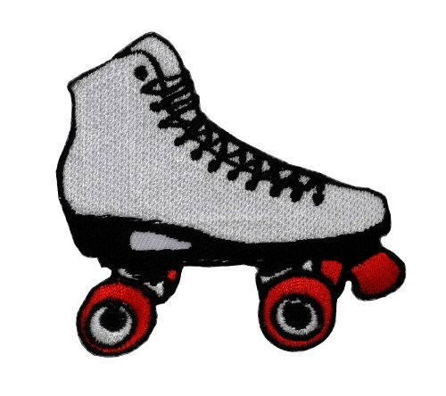 Roller skates Retro Vintage DIY Applique Embroidered Sew Iron on Patch