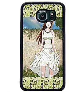 PrintDhaba Cute Girl D-3067 Back Case Cover for SAMSUNG GALAXY S6 (Multi-Coloured)