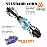 Komunity Project 7' Standard Surfboard Leash (Black, Tropical Wax)