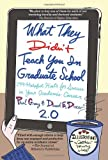 img - for What They Didn't Teach You in Graduate School: 299 Helpful Hints for Success in Your Academic Career, Second Edition by Paul Gray (2012-03-30) book / textbook / text book