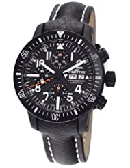 Fortis Men's 638.28.71L B-42 Official Cosmonauts Automatic Chronograph Black Dial Watch