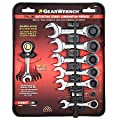 "Gearwrench 7 Piece SAE Stubby Combination Ratcheting Wrench Set 3/8""-3/4"""
