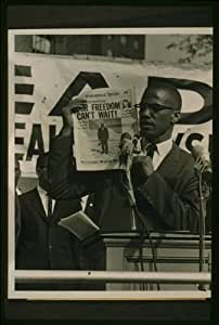 Photo Malcolm X Our Freedom Can 39 T Wait