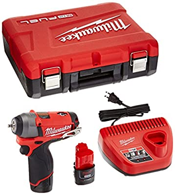 Milwaukee 2452-22 M12 Fuel 1/4 Impact Wrench Kit W/2 Bat by Builders World Wholesale Distribution