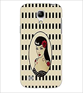 PrintDhaba Tattoo Girl D-1117 Back Case Cover for SAMSUNG GALAXY S4 MINI (Multi-Coloured)