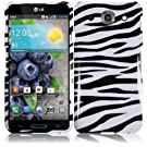 Trembling Zebra Design Hard Case Cover Premium Protector for LG Optimus G Pro E980 (by AT&T) with Free Gift Reliable Accessory Pen