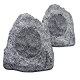 New Outdoor Garden Waterproof Granite Rock Patio Speaker Pair 2R4G