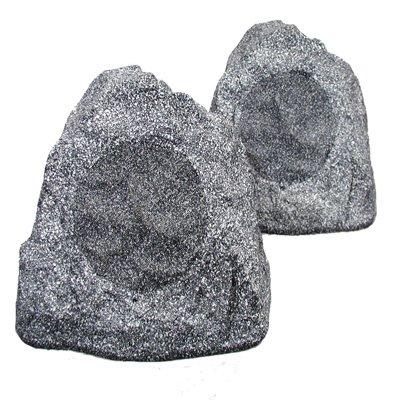 Theater Solutions 2R4G Outdoor Rock Speakers (Granite Grey)