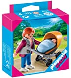 Playmobil Mum With Baby Carriage 4756