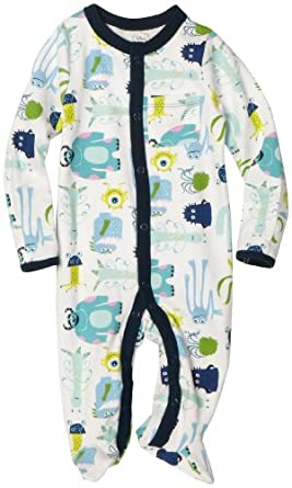 Disney Baby-Boys Newborn Disney Pixar Monsters, Inc Sleep and Play Romper, White, 6-9 Months