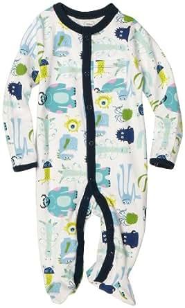 Disney Baby-Boys Newborn Disney Pixar Monsters, Inc Sleep and Play Romper, White, 3-6 Months