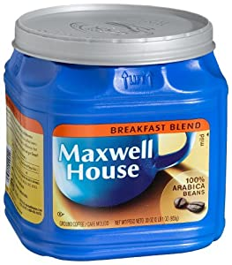 Maxwell House Breakfast Blend (Mild) Ground Coffee, 33-Ounce Plastic Jugs (Pack of 2)
