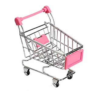Amazon.com - Vktech Mini Shopping Cart Supermarket Handcart Shopping Utility Cart Mode Storage