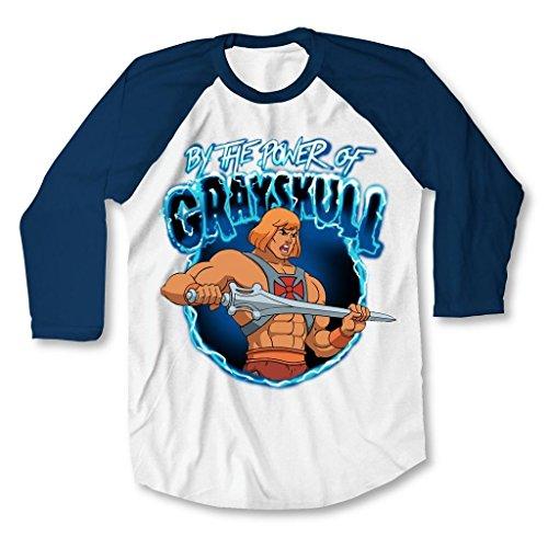 He-Man By the Power of Grayskull Adult Raglan T-Shirt - S to XXXL