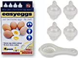Easy Eggs Eggies Just Hard Boiled Eggs No Shell No Mess Set of 4 + FREE Egg Separator