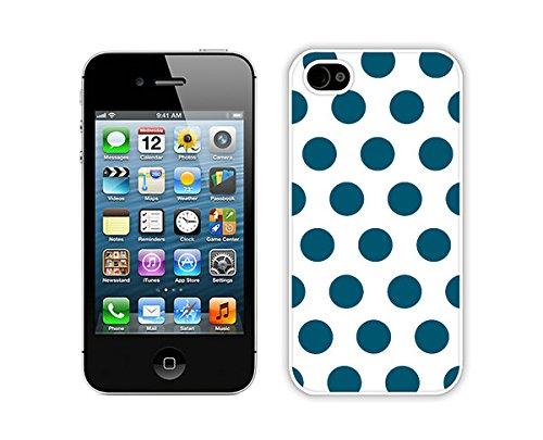 BINGO Most Popular Polka Dot White and Dark Green iPhone 4 4S Case