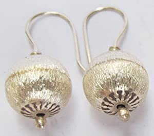 BEAUTIFUL THAI KAREN HILL TRIBE SILVER EARRING BY HANDMADE 92.5