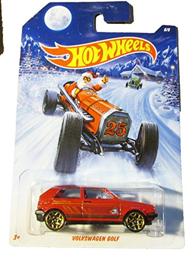 HOT WHEELS HOLIDAY HOT RODS 2014 SERIES VOLKSWAGEN GOLF DIE-CAST - 1