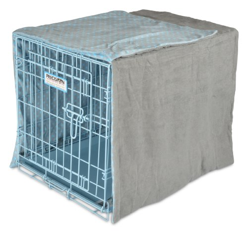 Precision Pet Snoozzy Baby Duvet Crate Cover, 24-Inch, Blue dot (Midwest Crate Cover compare prices)