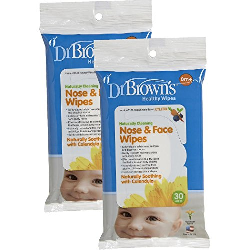 Dr. Brown's Nose and Face Wipes - 30 Pk (Set of Two) - 1