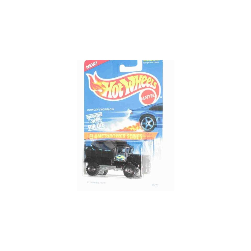 Flamethrower Series #4 Oshkosh Snowplow Black Construction Tires #387 Collectible Collector Car Mattel Hot Wheels 164 Scale