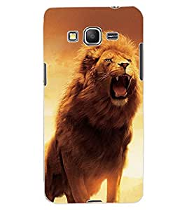 ColourCraft Roaring Lion Design Back Case Cover for SAMSUNG GALAXY GRAND PRIME G530H