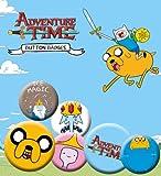 Gb eye set de badges adventure time : crazy times avec jake sous licence officielle