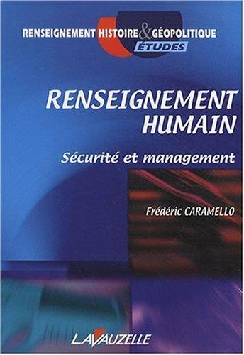 renseignement humain, securité et management