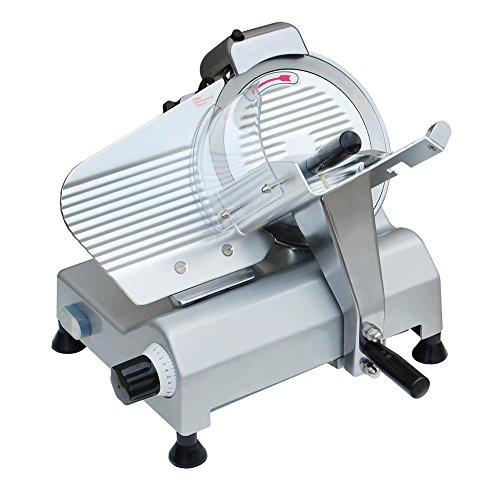 "Commercial 10"" Blade Electric Meat Slicer 240W 530Rpm Deli Food Cheese Slicer"