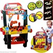 Work Bench 2 in 1 Childrens Kids Mechanic Car Playset 50+ PC WorkShop Tools Toy