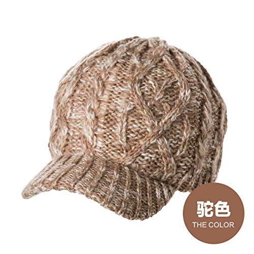 YangR*Cappelli invernali bambini marea calda cappelli a maglia maglia fitta berretti elegante cappuccio antivento , e colore