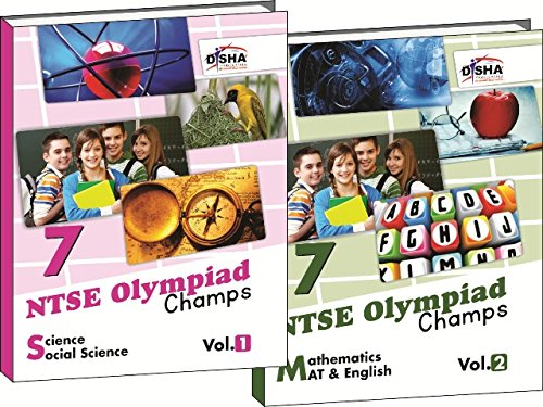 NTSE-NMMS/ OLYMPIADS Champs Class 7 Science/ Social Science/ Maths/ Mental Ability/ English Vol 1 & 2