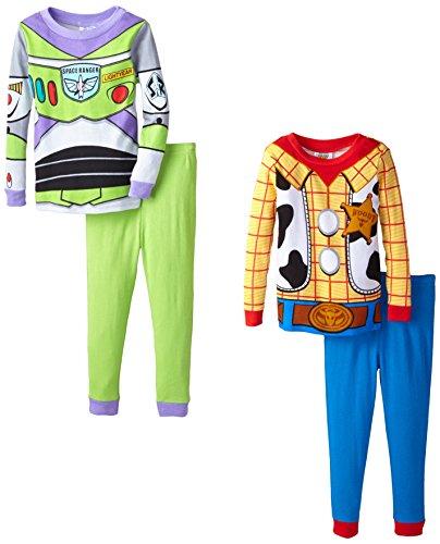 Komar Kids Little Boys' Toy Story 4 Piece Sleep Set, Multi, 4T front-67172