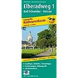 Radwanderkarte Elberadweg 1, Bad Schandau - Dessau: Mit Ausflugszielen, Einkehr- & Freizeittipps, wetterfest, reissfest, abwischbar, GPS-genau. ... reissfest, abwischbar, recycelbar, GPS-genau
