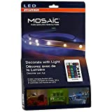 SYLVANIA LED Strip Lights RGB + White ,Mosaic Flexible Starter Kit ,Color changing ,Four 2-Feet LED Light Strips with Remote Control