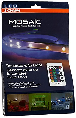 Sylvania LED RGBW Color Changing Strip Lights RGBW Mosaic Flexible Starter Kit with Remote Control, 2-Feet LED Light Strips (Pack of 4) (Strip Light Starter compare prices)
