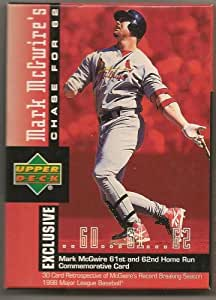 Mark McGwire's Chase for 62 Home Run Card Set (30 Cards) By The Upper Deck