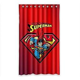 Superman Logo Superhero Blackout Panel Curtain Custom Polyester 50\