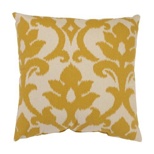Pillow Perfect Azzure 16.5-Inch Throw Pillow, Marigold