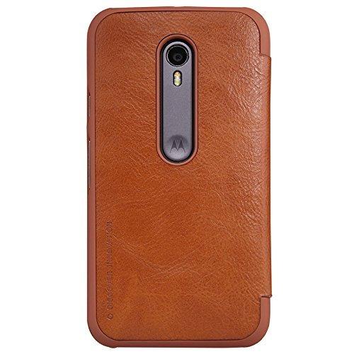 hot sale online ca9b4 9655d Nillkin Qin Series Elegant Royal Leather Bumper Flip Case Cover Case For  Motorola Moto G3 / Moto G 3Rd Gen (3Rd Generation) (Brown) Buy Nillkin Qin  ...