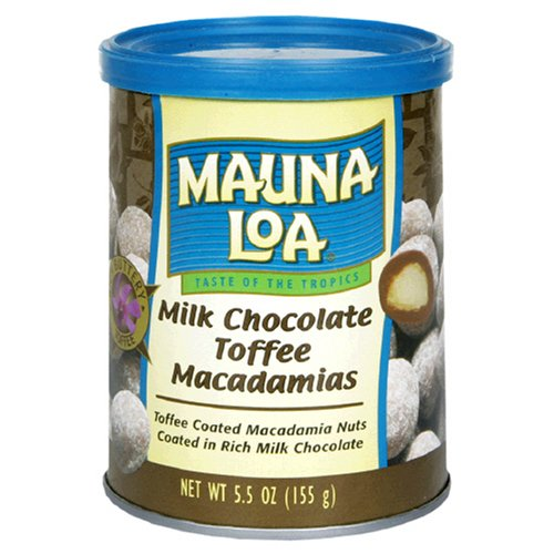 Mauna Loa Milk Chocolate Toffee Macadamias, 6-Ounces Bags  (Pack of 6)