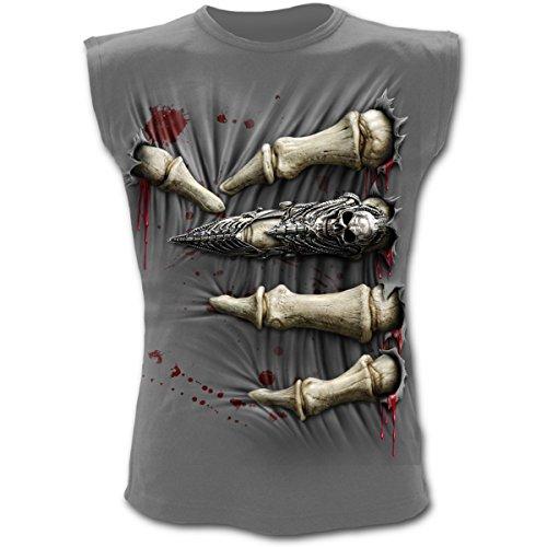 Spiral canottiera da uomo T-Shirt Death Grip, antracite