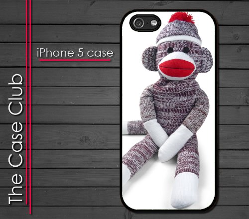 iPhone 5 Rubber Silicone Case - Sock Monkey Doll Stuffed Doll Print