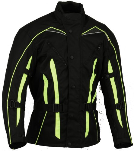 Mens Hivis Motorbike Jacket Waterproof MX Motocross All sizes (L)
