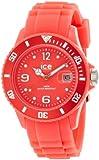 ICE-Watch - Montre Mixte - Quartz Analogique - Ice-Flashy - Neon Red - Unisex - Cadran Rouge - Bracelet Silicone Rouge - SS.NRD.U.S.12