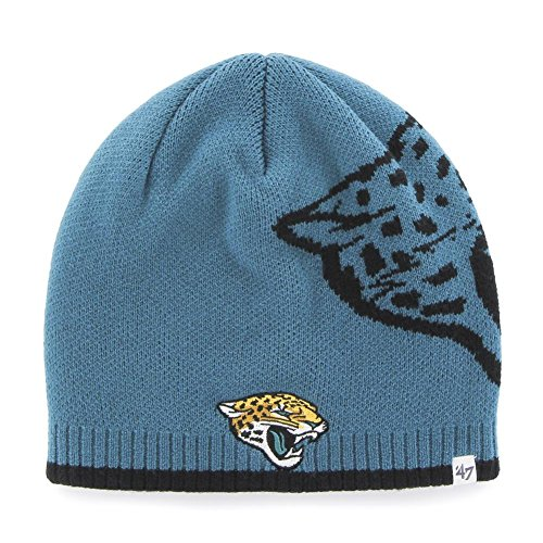 Youth Jacksonville Jaguars  Black Cuffed Knit Hat with Pom