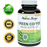 Pure Green Coffee Bean Extract - Highest Grade & Quality Antioxidant GCA (Standardized to 50% Chlorogenic Acid) for Men & Women (Best Formula) - Burns Both Fat and Sugar As Seen on Dr Oz - Guaranteed By Natures Design